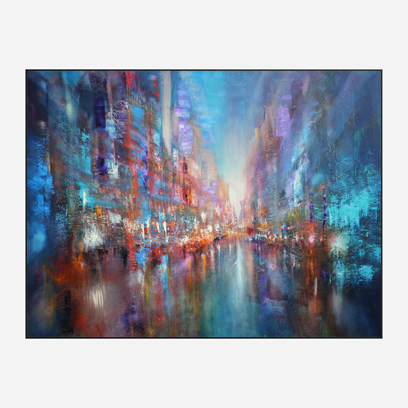 The Blue City Abstract Art Print