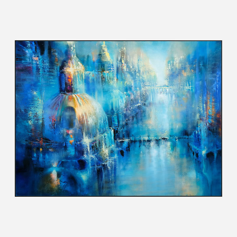 The Old Town Abstract Art Print
