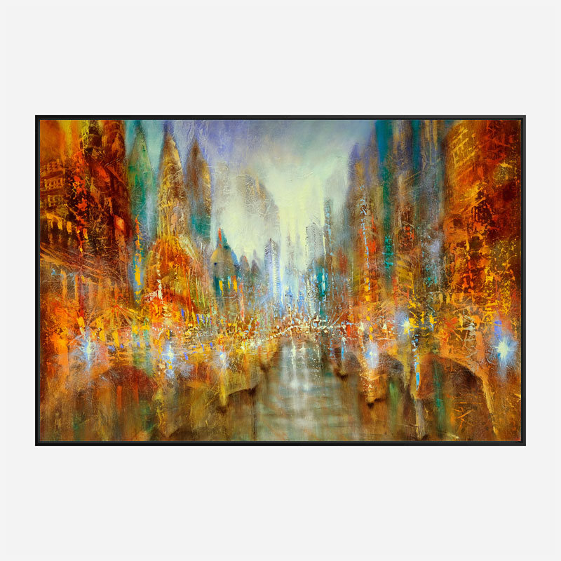 City of Lights Abstract Art Print