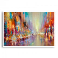 Street Life Abstract Art Print