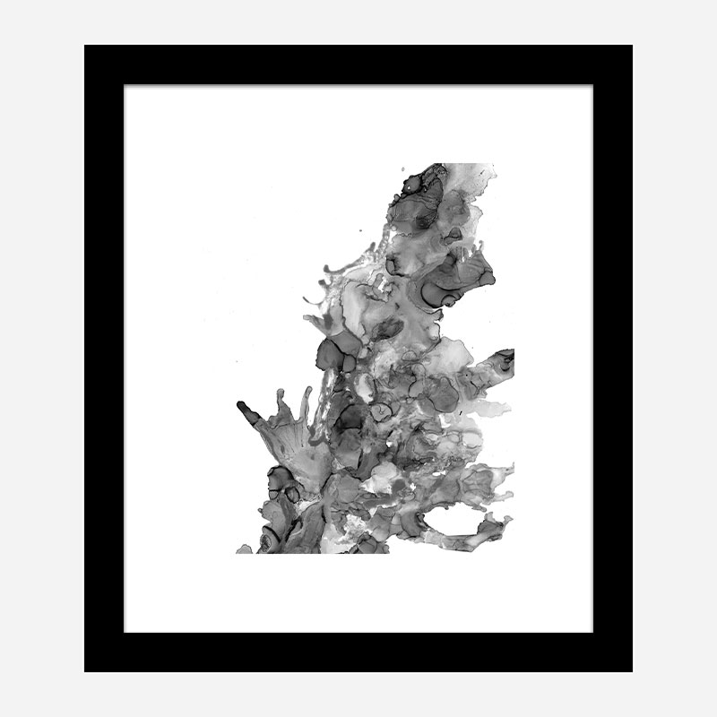 Dark Water Abstract Art Print