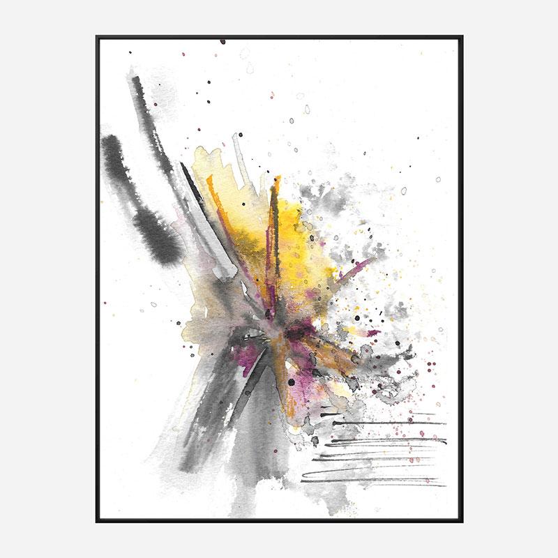 Burst Abstract Art Print