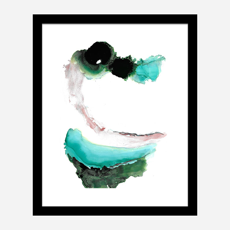 Green Water Abstract Art Print