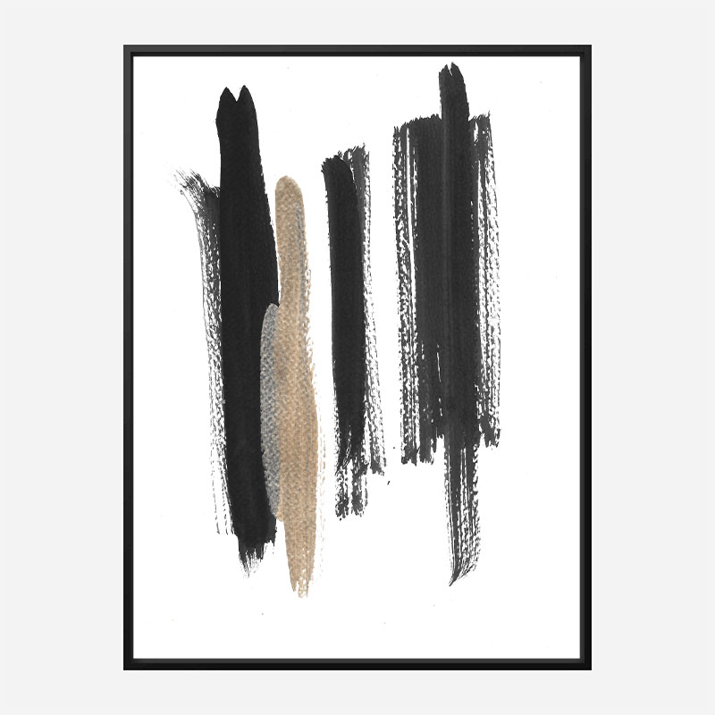 Three Lines A Abstract Art Print