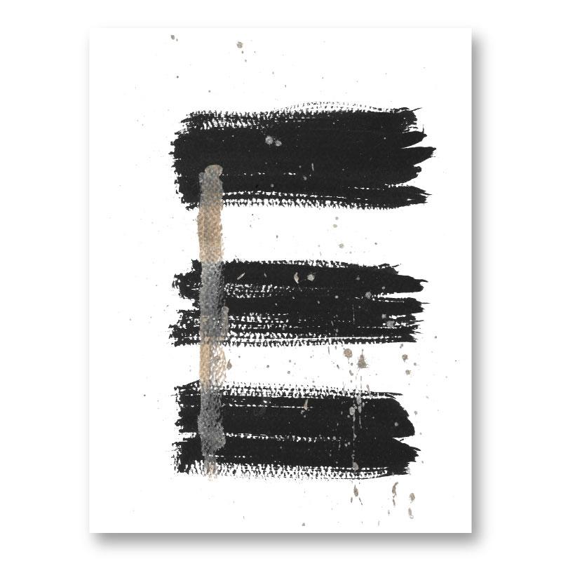 Three Lines B Abstract Art Print