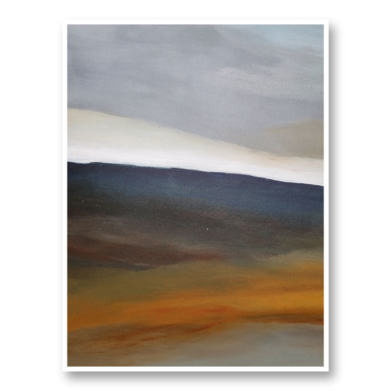 Landscape Blue and Yellow Abstract Art Print