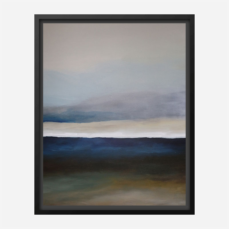 The Blue Landscape Abstract Art Print