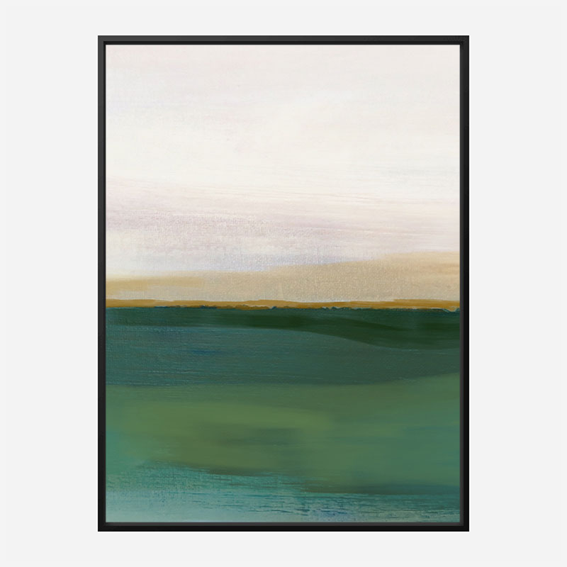 The Green Landscape Abstract Art Print