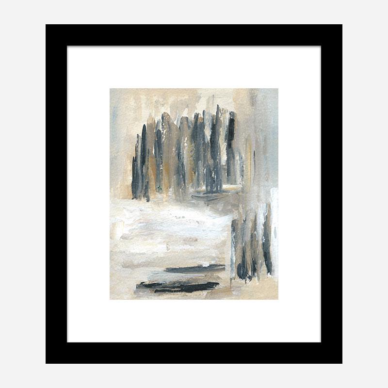 Neutral Skyline Abstract Art Print