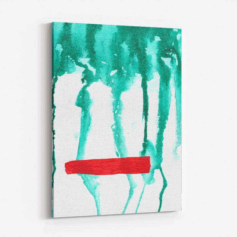 Green Rain Abstract Art Print