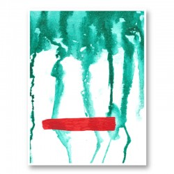 Green Rain Abstract Art Print