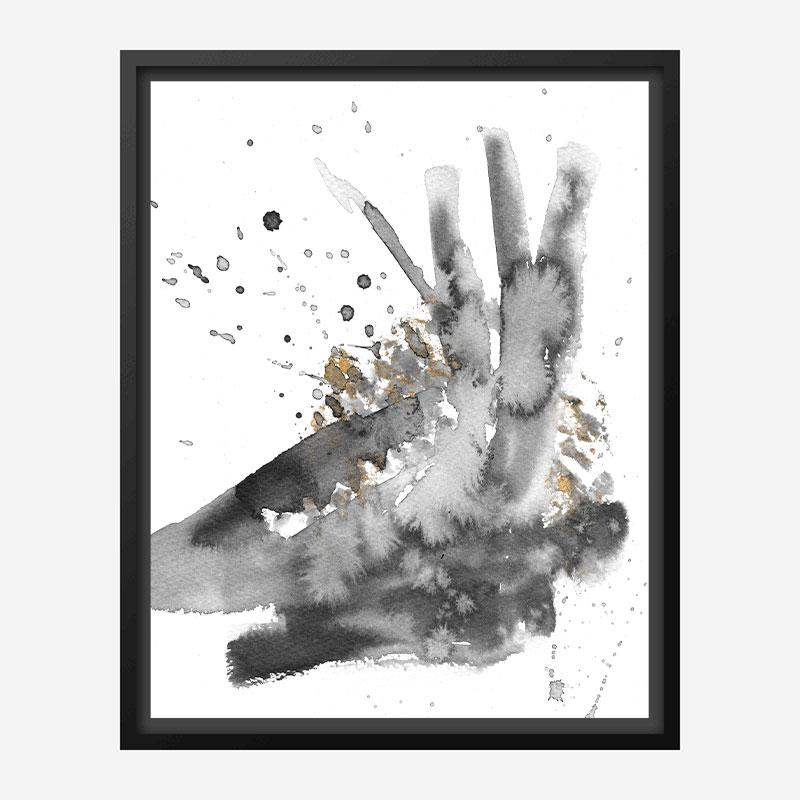 Splash Ink Abstract Art Print