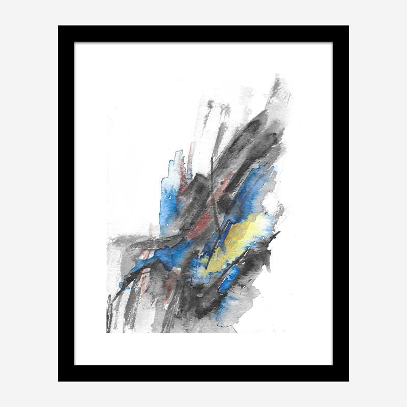 Sunrise Ink Abstract Art Print