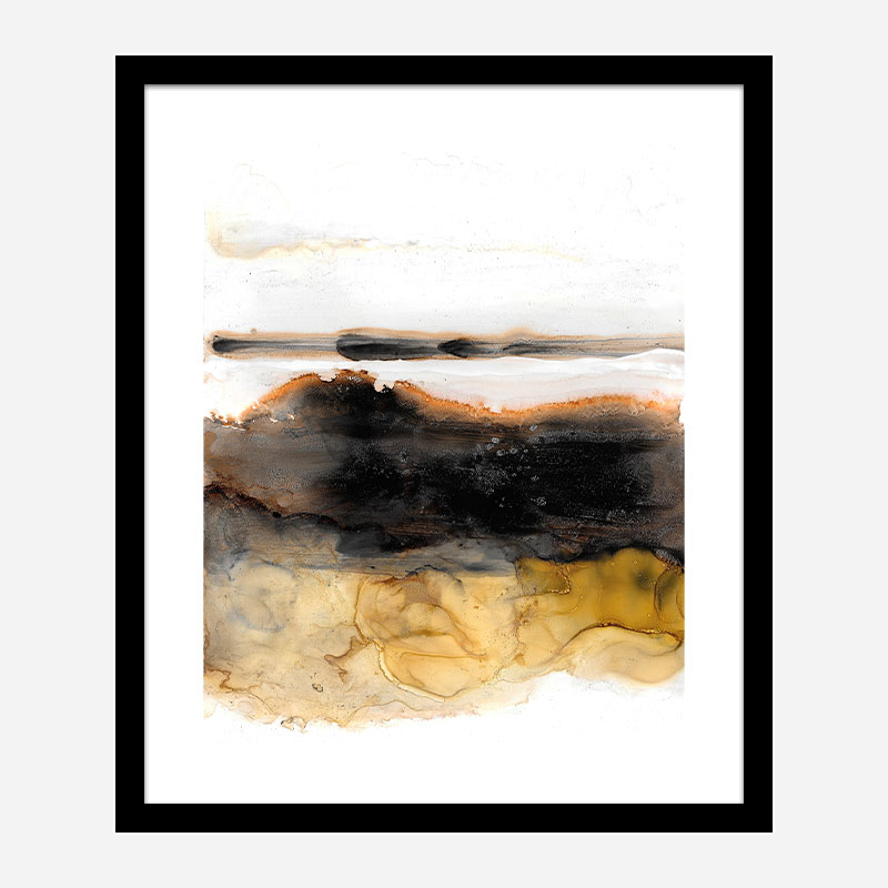 Dark Days Ink Abstract Art Print