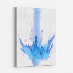 Blue Petals Abstract Art Print