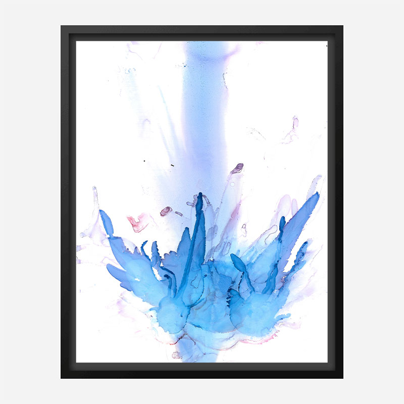 Blue Petals Abstract Art Print