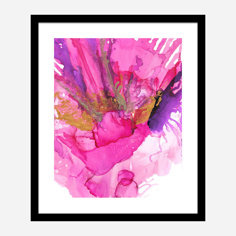 The Power of Pink Abstract Art Print