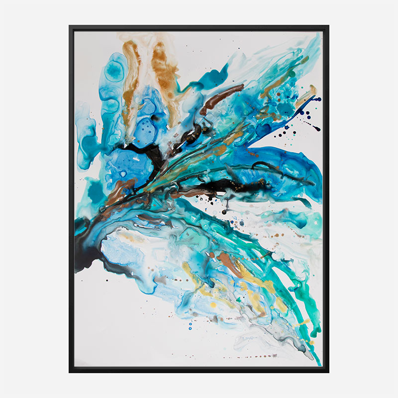 Overjoyed Abstract Art Print