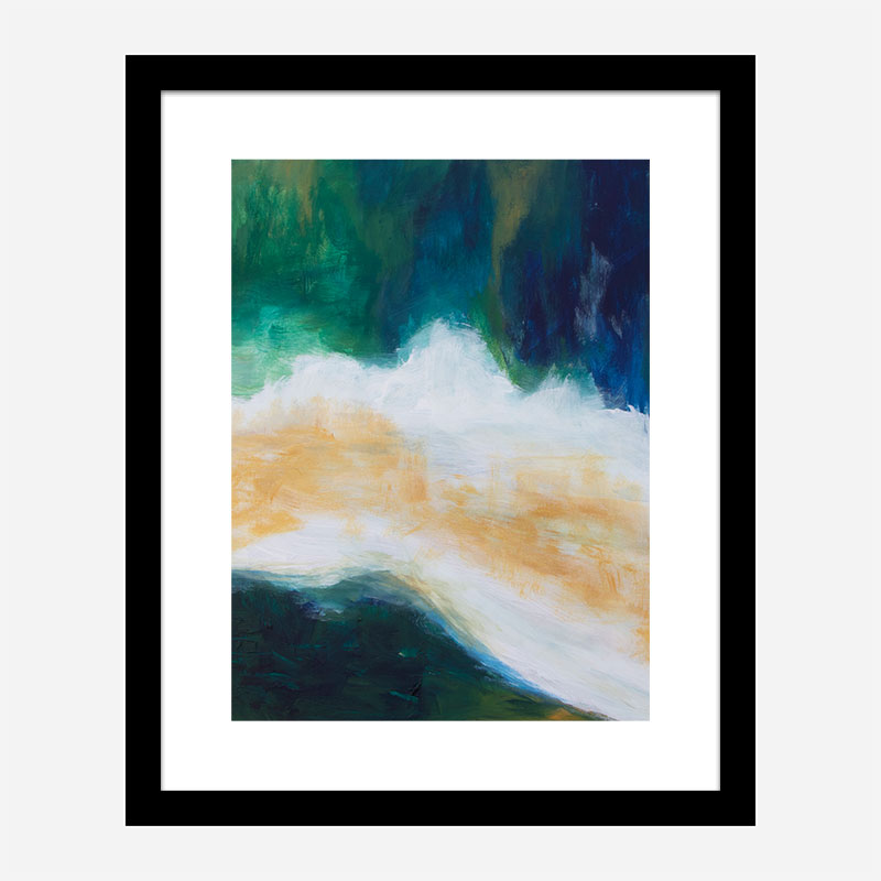 River Banks Abstract Art Print