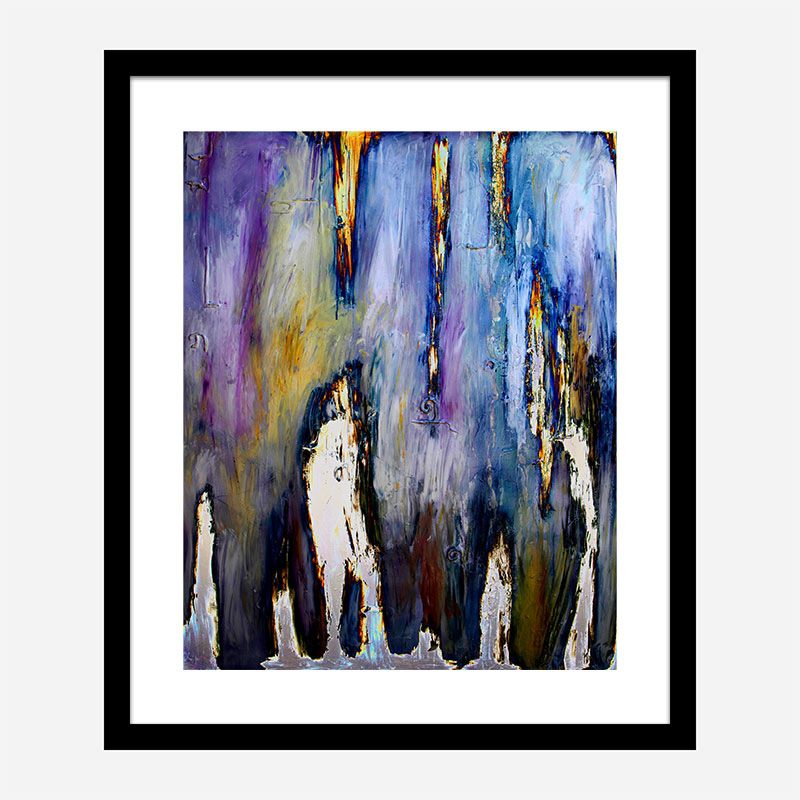 Walking in the Electric Fog Abstract Art Print
