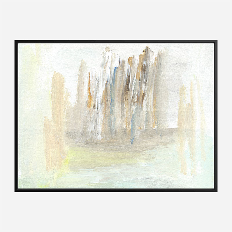 Beige Skyline Abstract Art Print