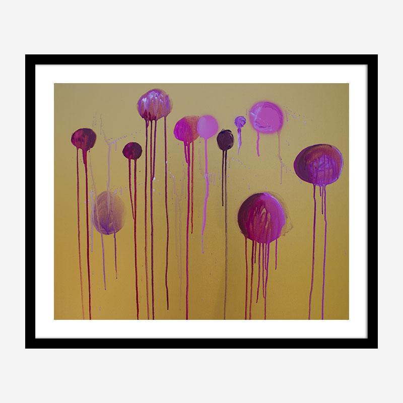 Pink Dreams Abstract Art Print