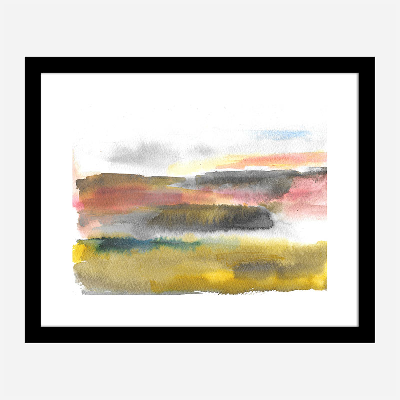 Pink Sky at Night Abstract Art Print