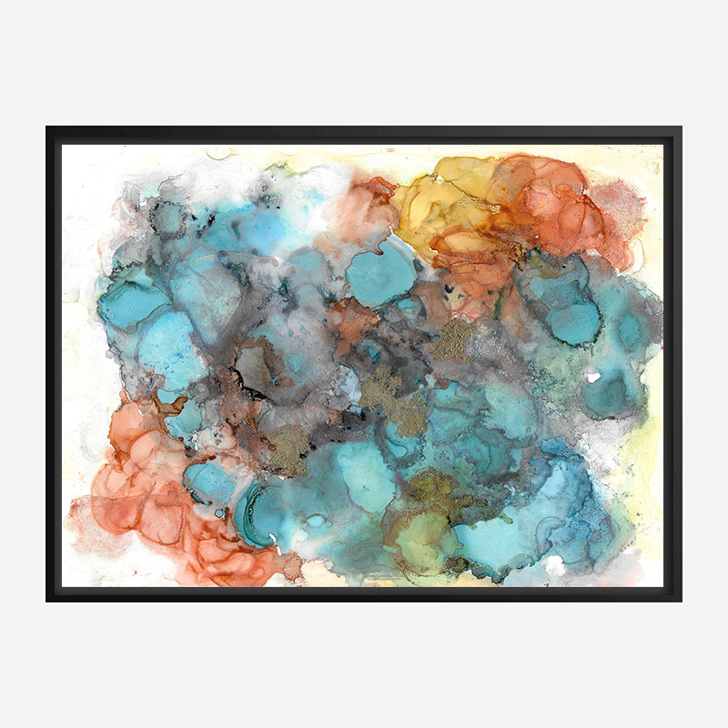 Summer Haze Abstract Art Print