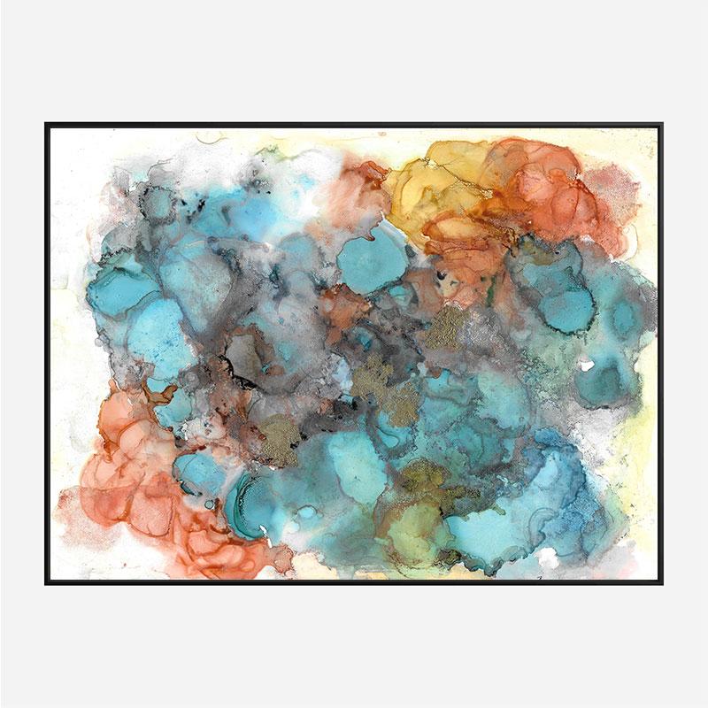Summer Haze Abstract Art Print