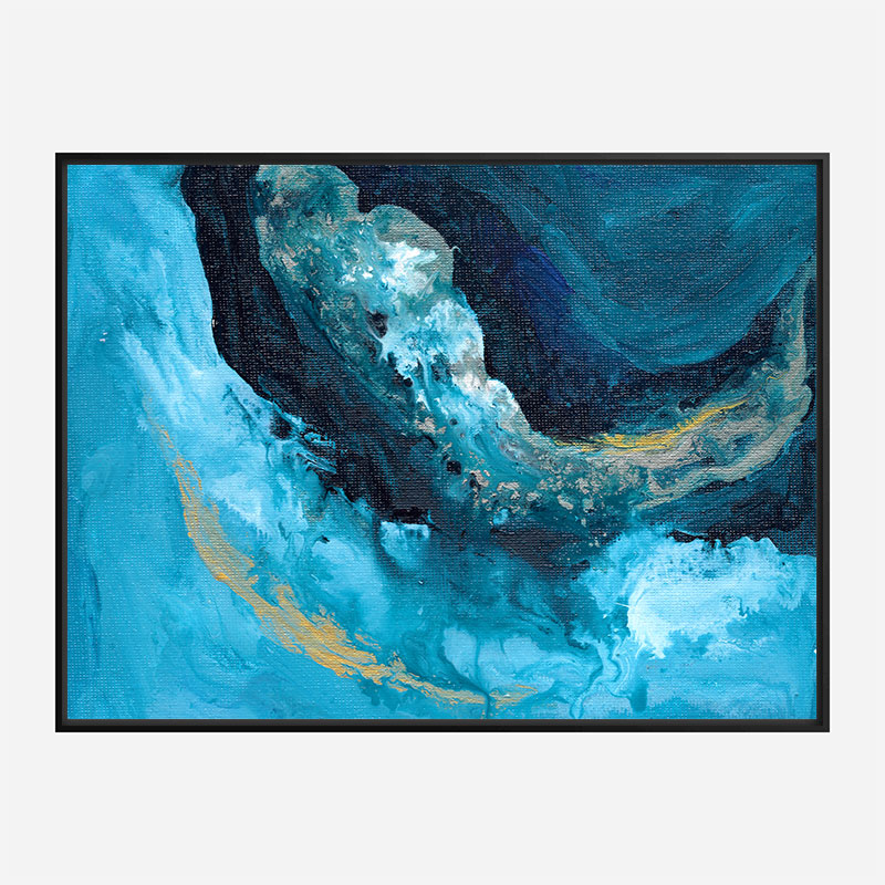 Lost In Blue Abstract Art Print