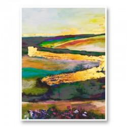 Gold River 5 Art Print