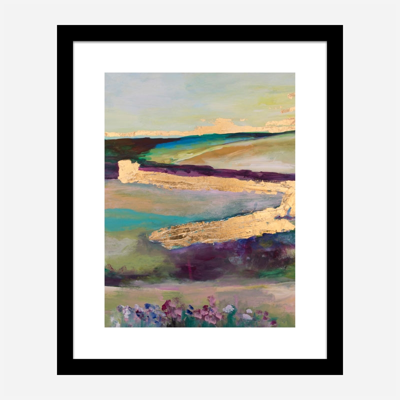 Countryside in Gold Art Print