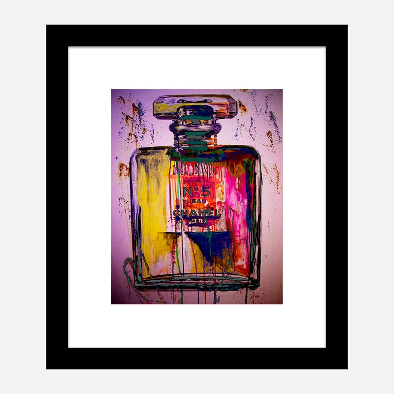 Chanel No 5 Fluro Art Print