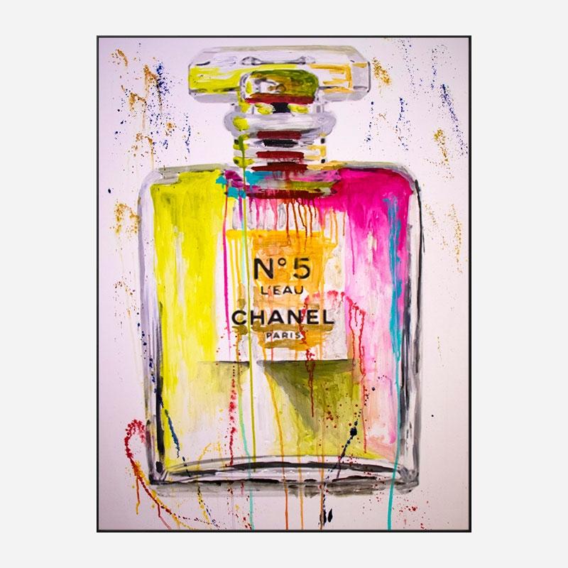 Chanel No 5 Perfume Abstract Art Print