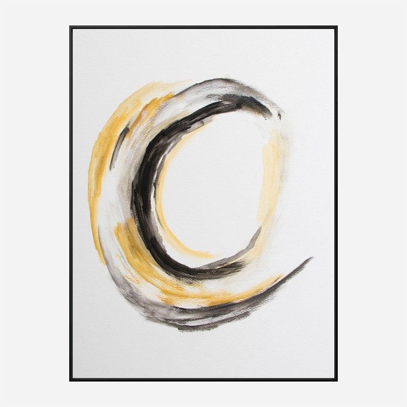Abstract Circle 1 Art Print