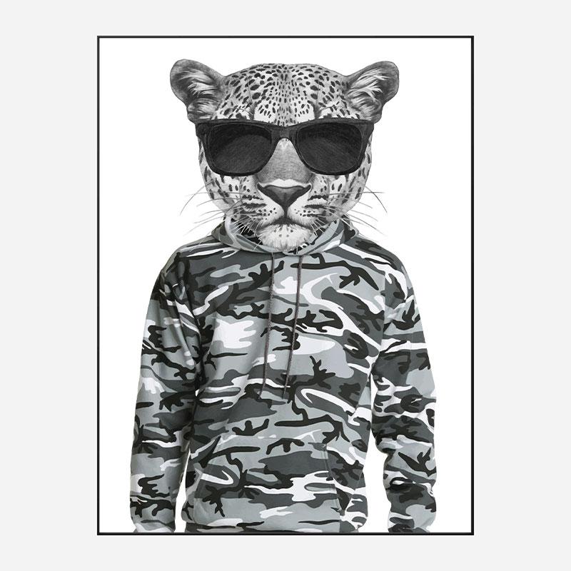 Leopard in Camo Art Print
