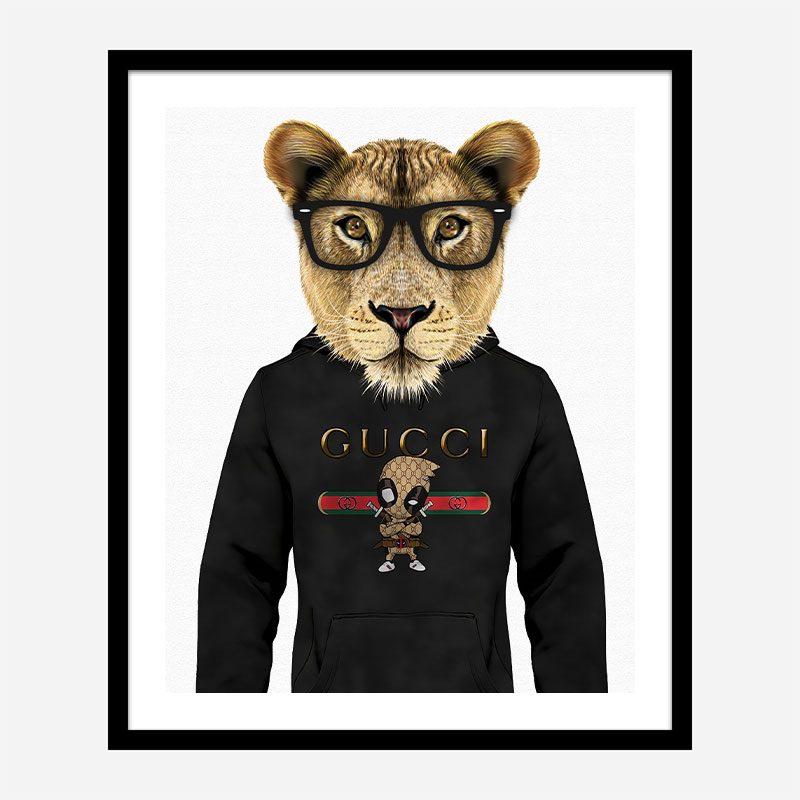 Lioness Gucci Hoodie Art Print