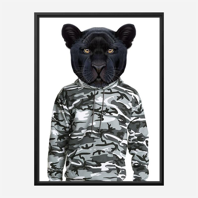 Black Panther Cammo Art Print