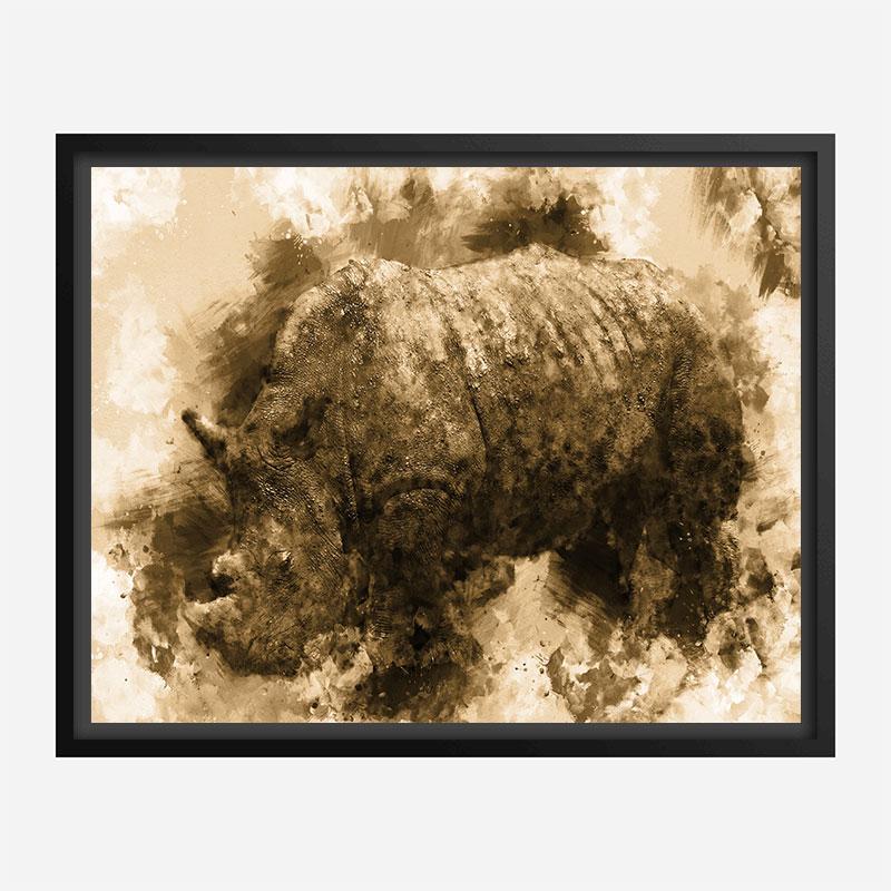 Rhino Abstract Art Print