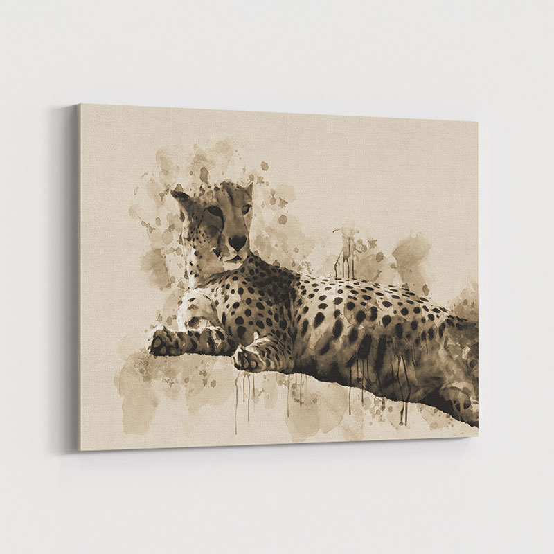 Lazy Leopard Abstract Art Print