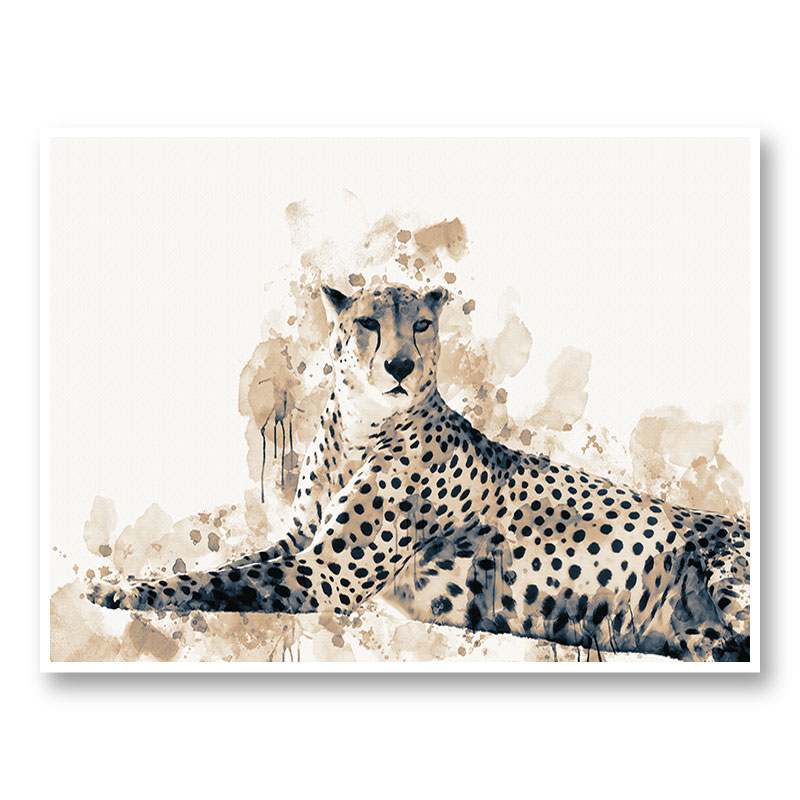 Focused Leopard Abstract Art Print