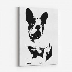 French Bulldog Black & White Art Print