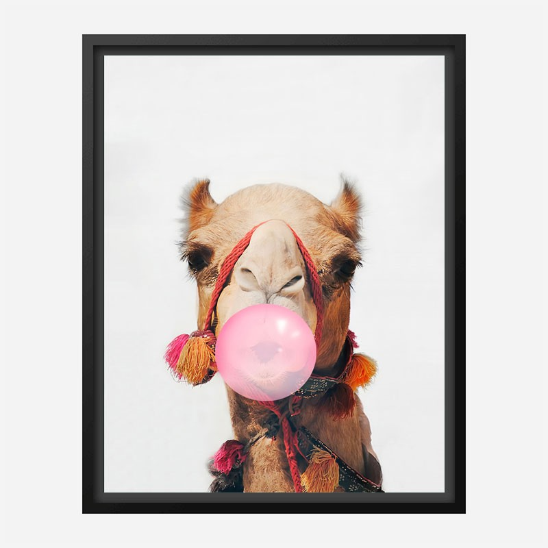 Camel Bubble Gum Art Print