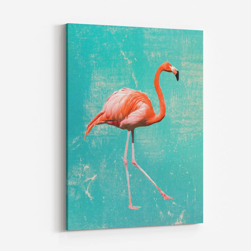 Flamingo Grunge Art Print