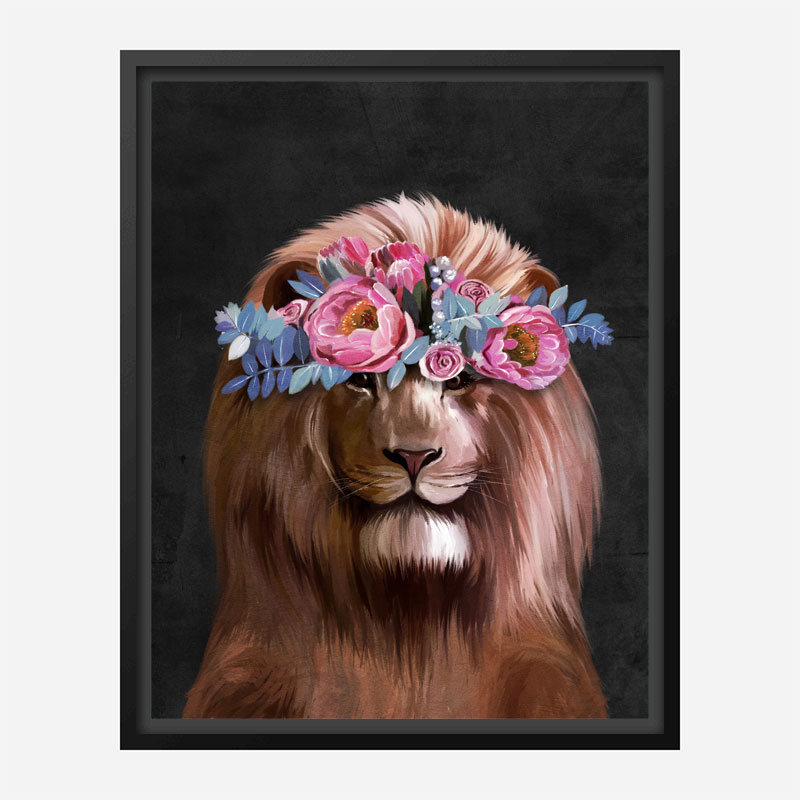 Flower Lion Art Print