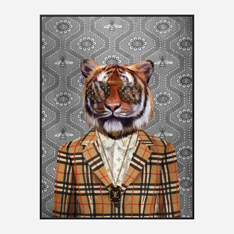 Tiger Fashion Victim Art Print
