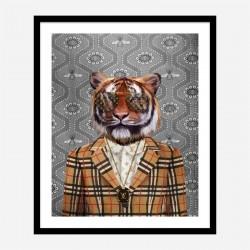 Tiger Fashion Victim Art Print