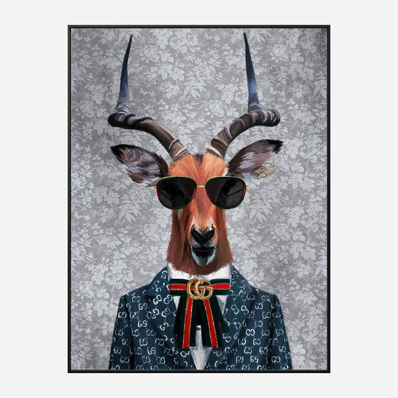 Antelope Fashion Victim Art Print