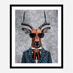 Antelope Fashion Victim Art Print