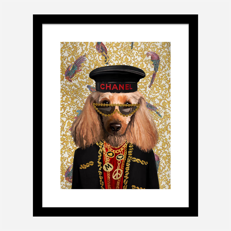 Doggy Fashion Victim Art Print